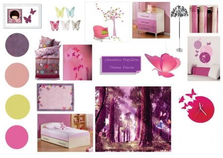 Planche d 39 ambiance projet chambre petite fille jessica - Ambiance chambre fille ...